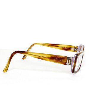 VERSACE Brown Tortoise Reading Frame Glasses +CASE